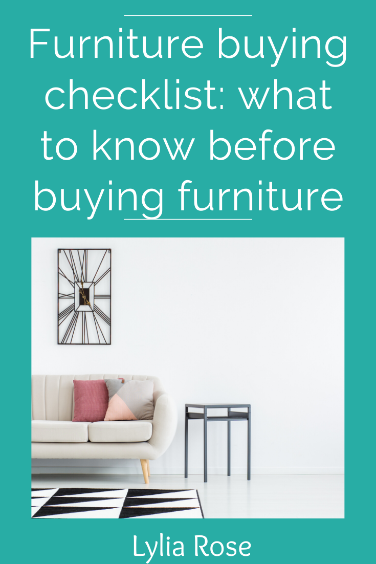 Furniture buying checklist_ what to know before buying furniture
