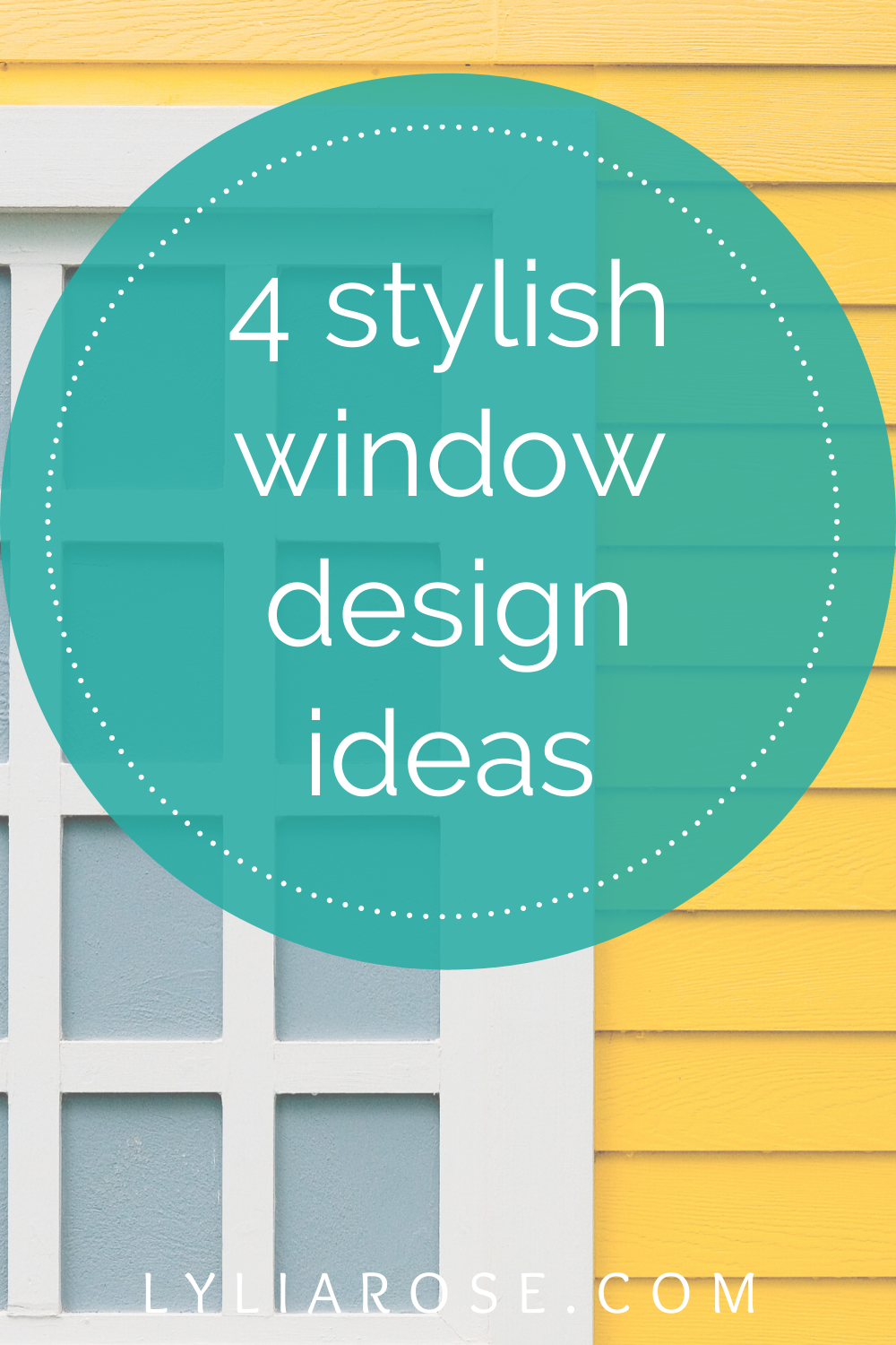4 stylish window design ideas