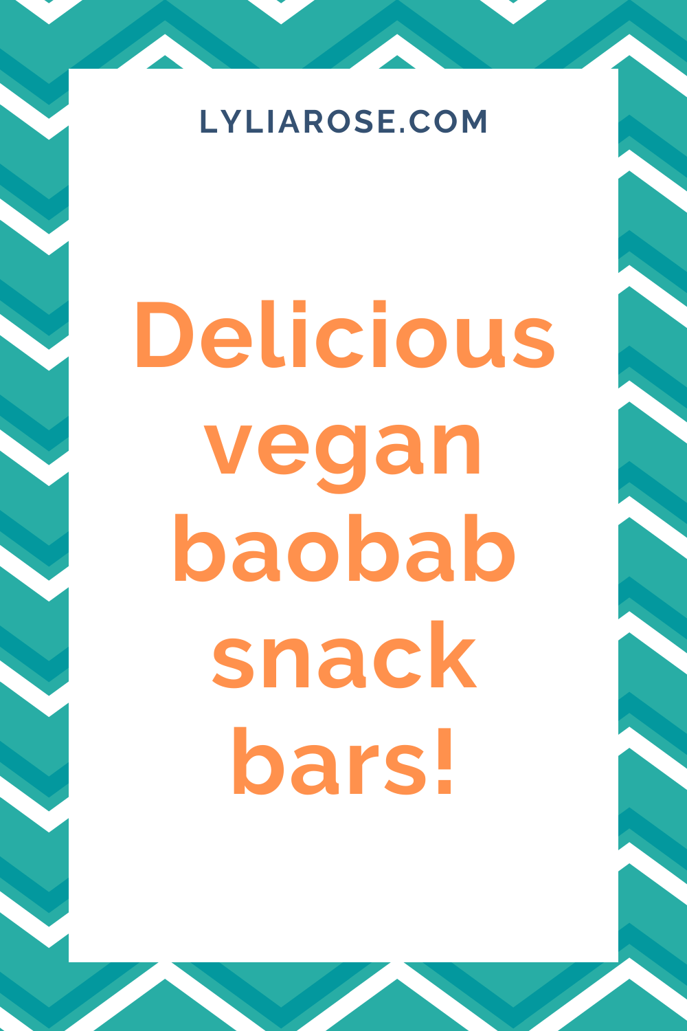 Delicious vegan baobab snack bars!