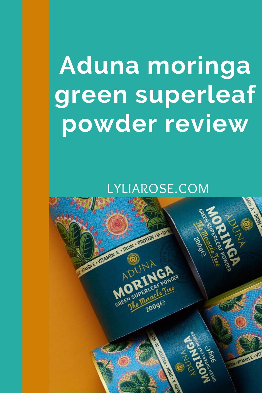 Aduna moringa green superleaf powder review