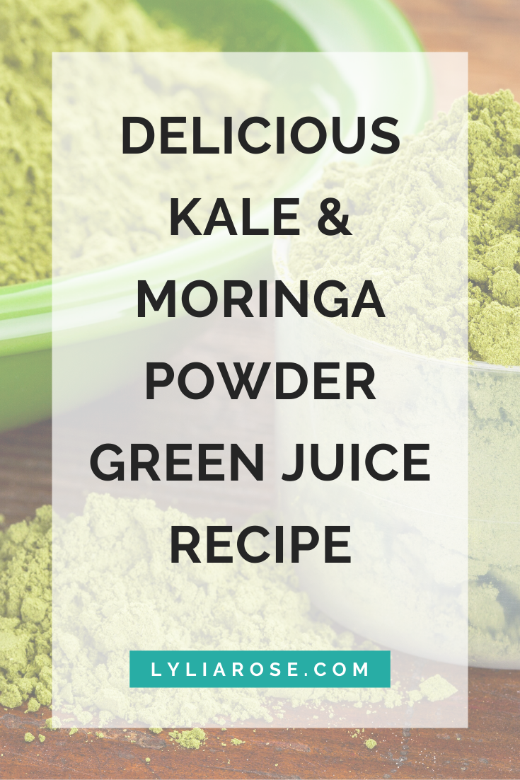 Delicious kale & moringa powder green juice recipe (1)
