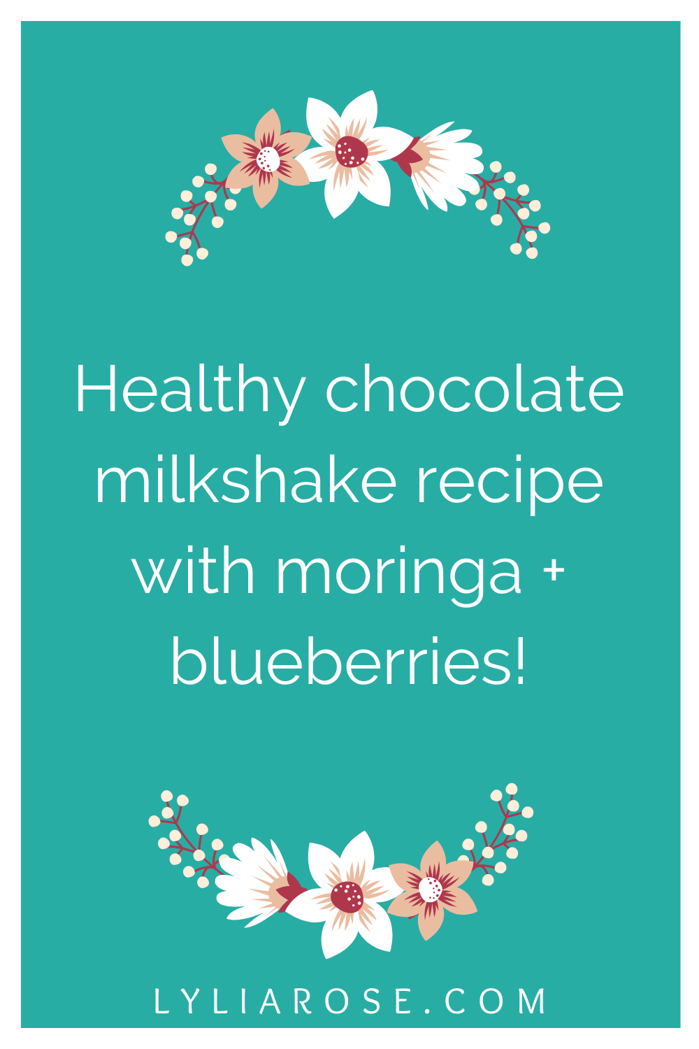 Healthy chocolate milkshake recipe with moringa + blueberries!