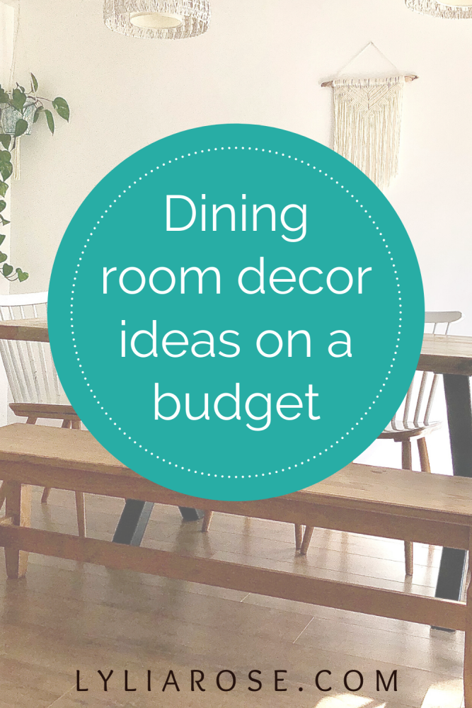 Dining room decor ideas on a budget