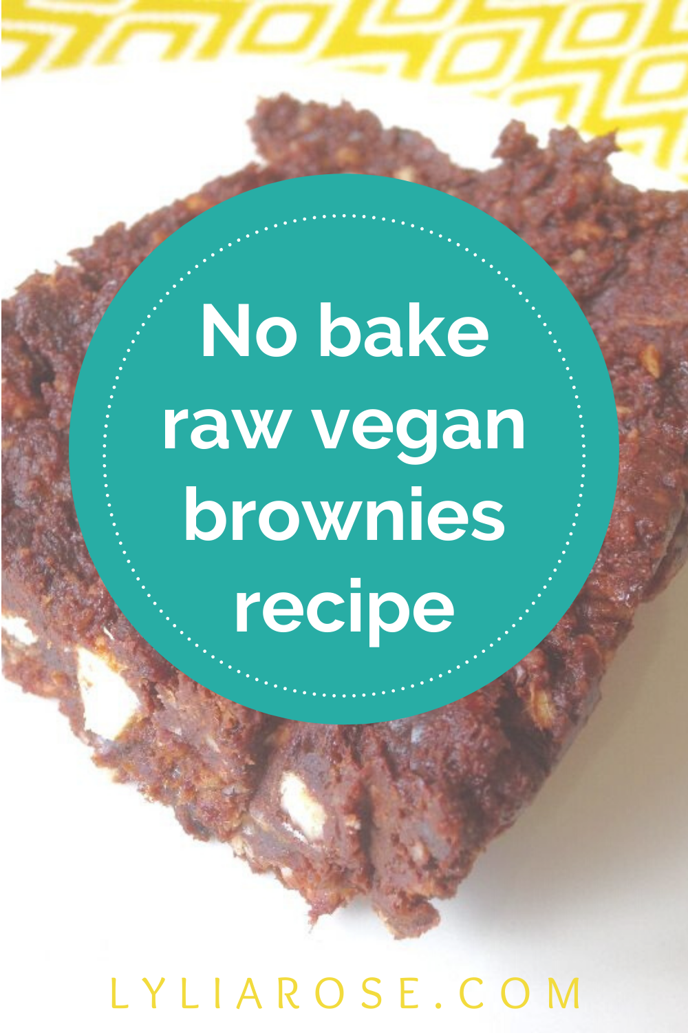 Delicious no bake raw vegan brownies recipe (1)