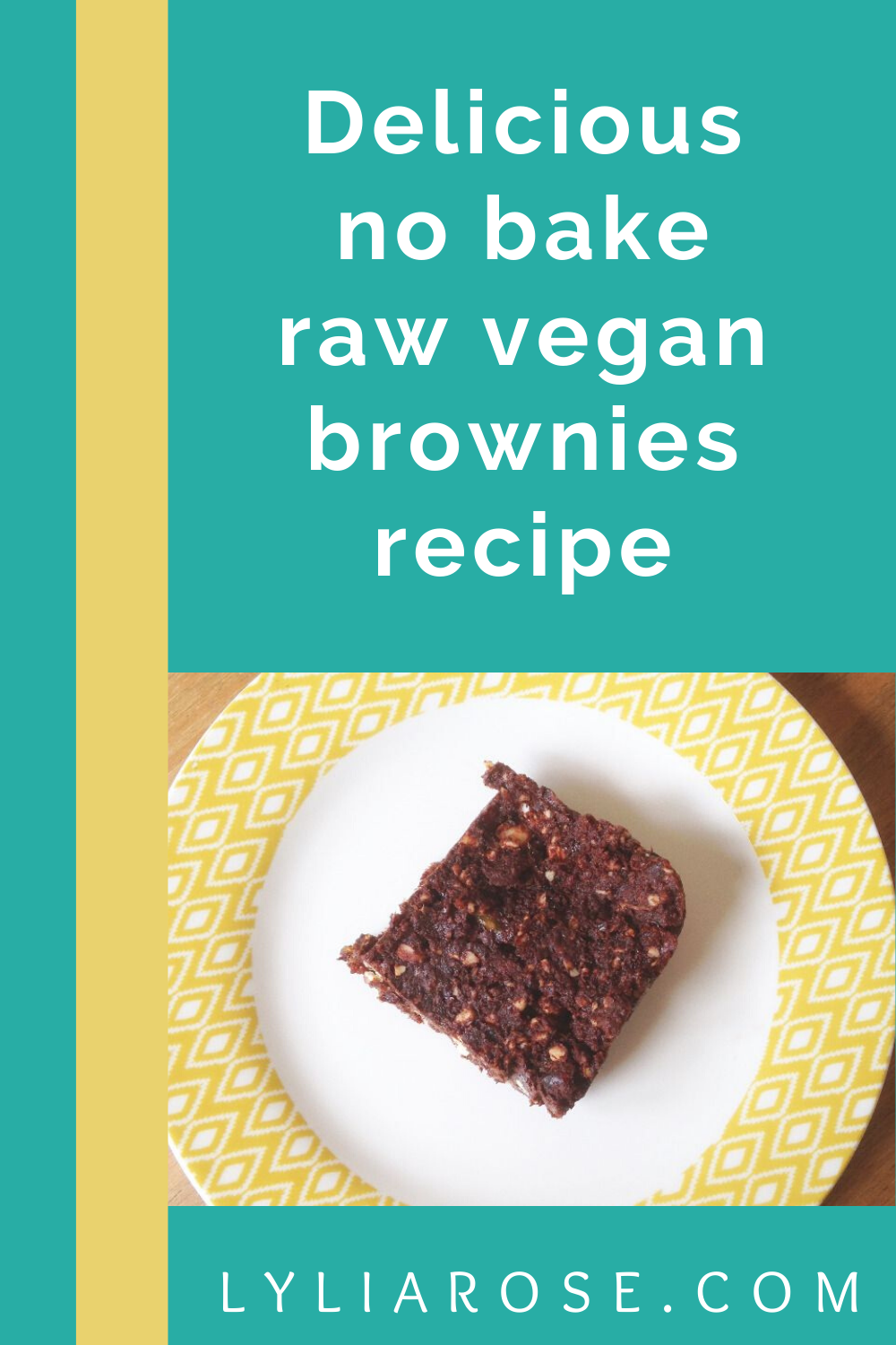 Delicious no bake raw vegan brownies recipe