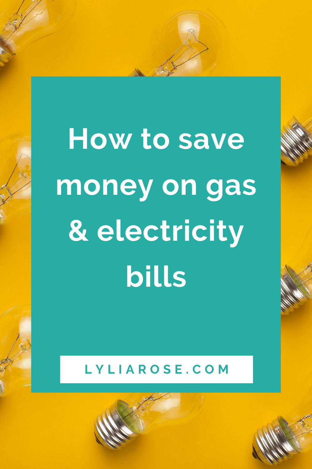 How to save money on gas and electricity bills