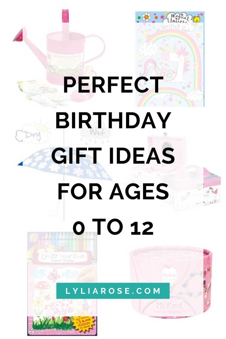 Perfect birthday gift ideas for ages 0 to 12 from what2buy4kids