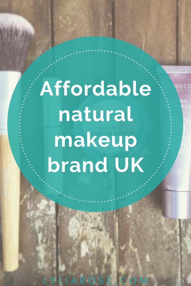 Affordable natural makeup brands UK