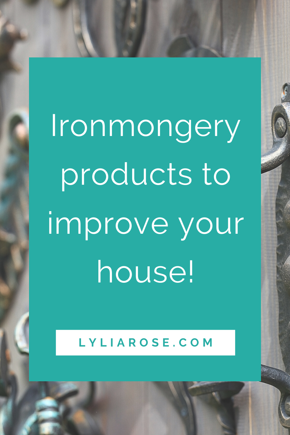 Ironmongery products to improve your house during lockdown