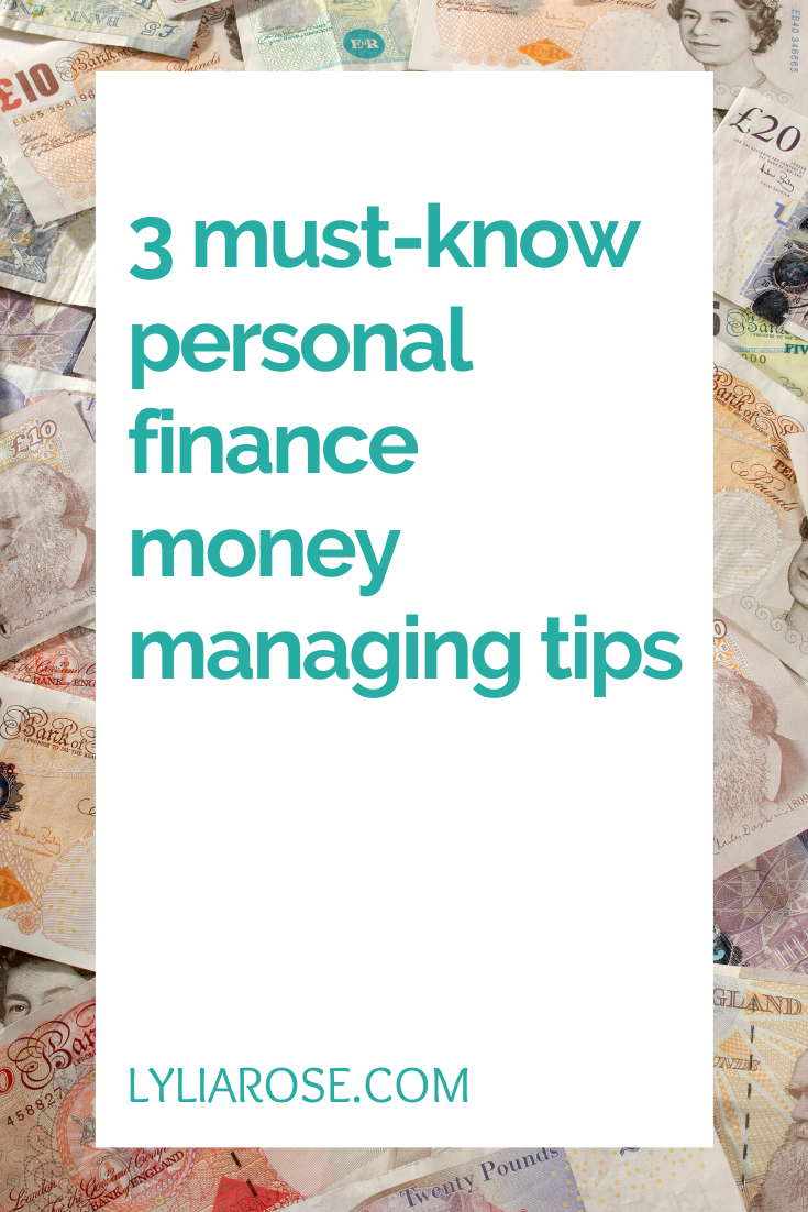 3 must-know personal finance money managing tips