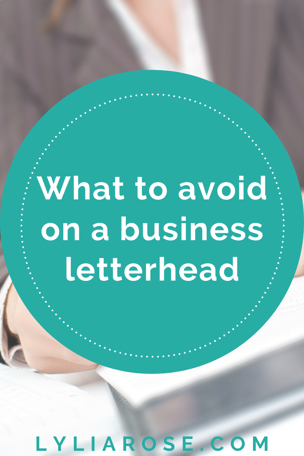 What to avoid on a business letterhead