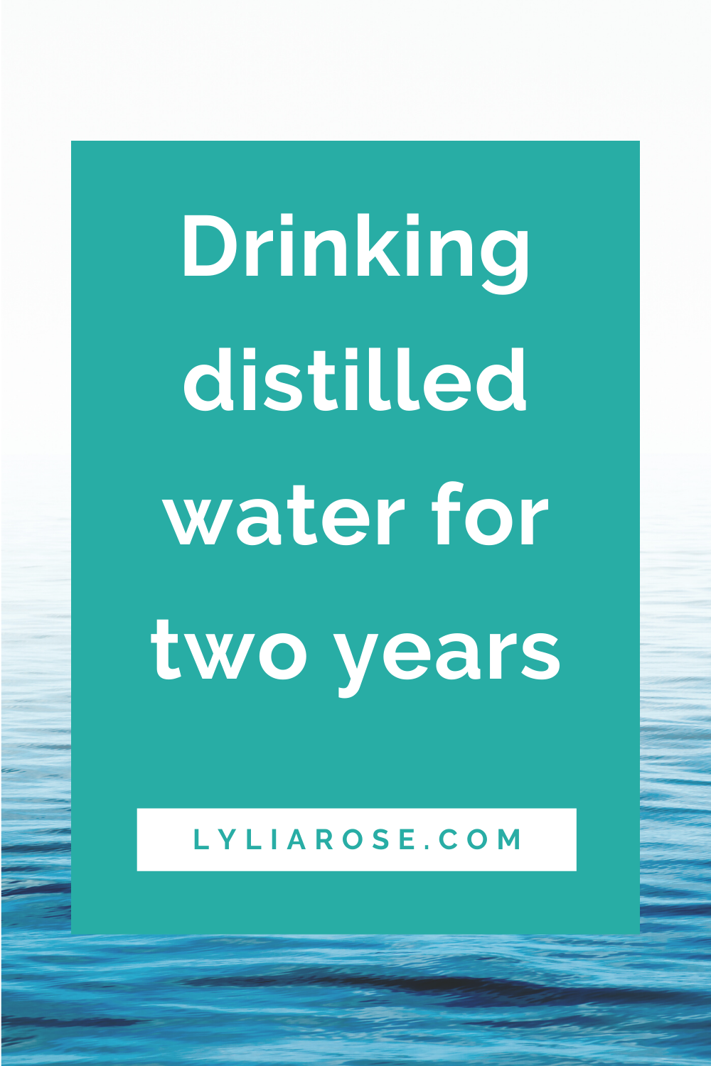 Drinking distilled water for two years