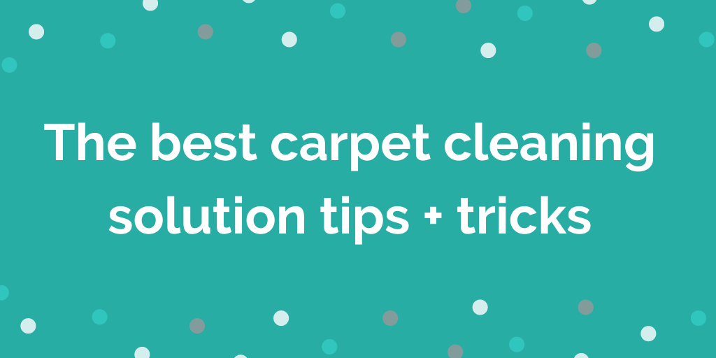 The best carpet cleaning solution tips + tricks