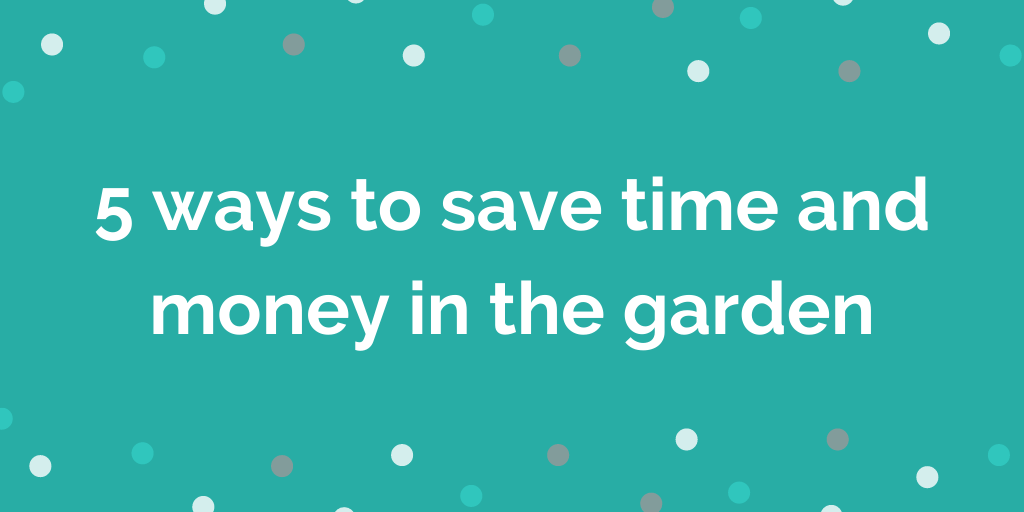 5 ways to save time and money in the garden