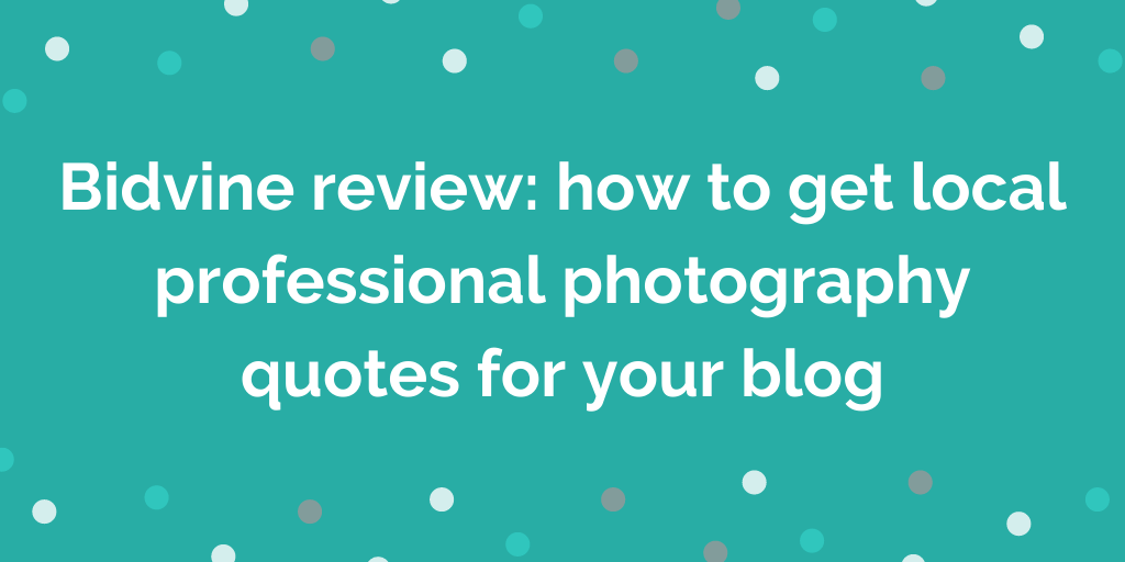 Bidvine review how to get local professional photography quotes for your b
