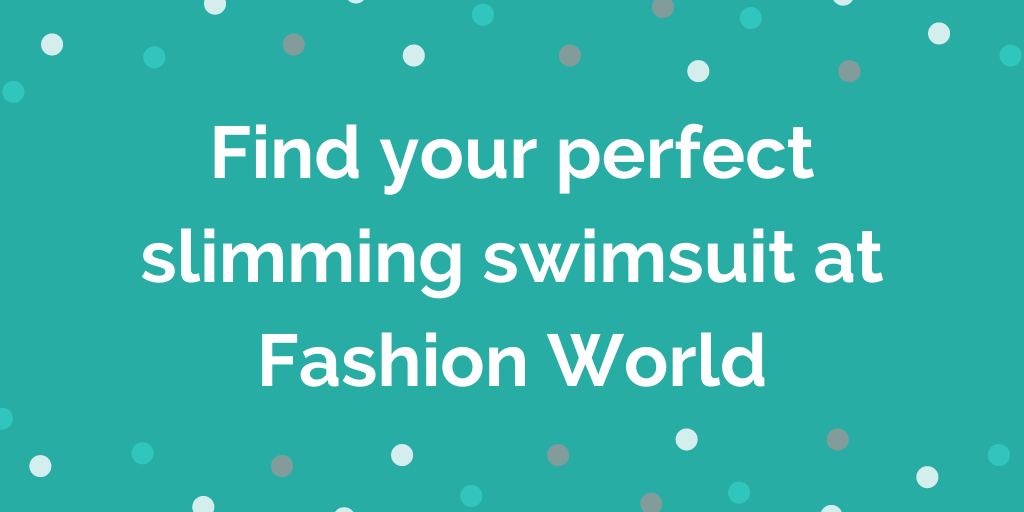Find your perfect slimming swimsuit at Fashion World