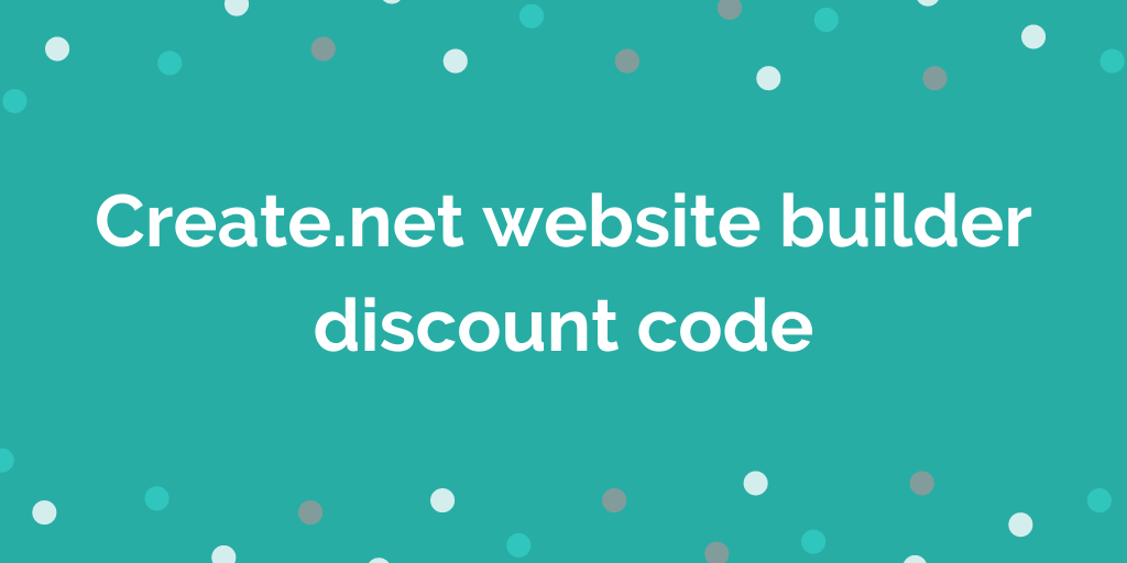 Create.net website builder discount code