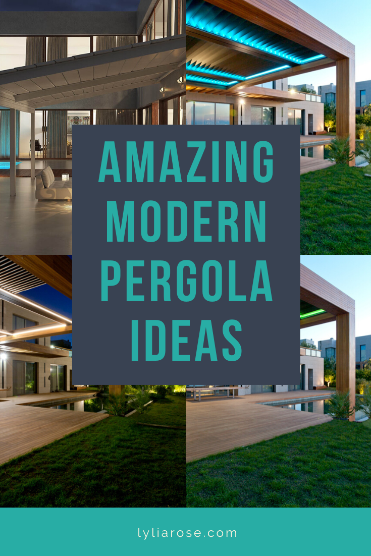 amazing modern pergola ideas with retractable roof