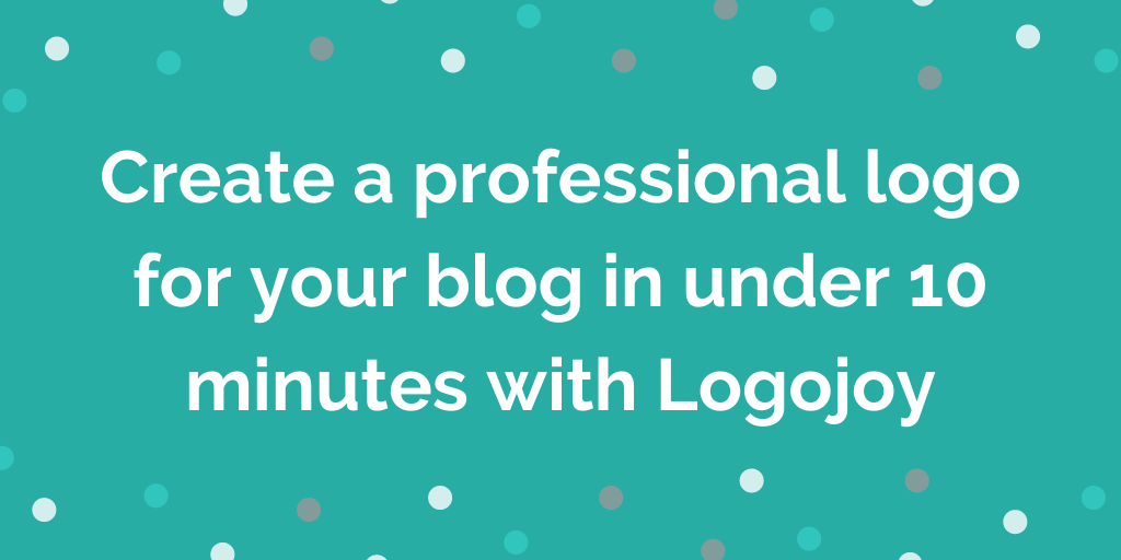 Create a professional logo for your blog in under 10 minutes