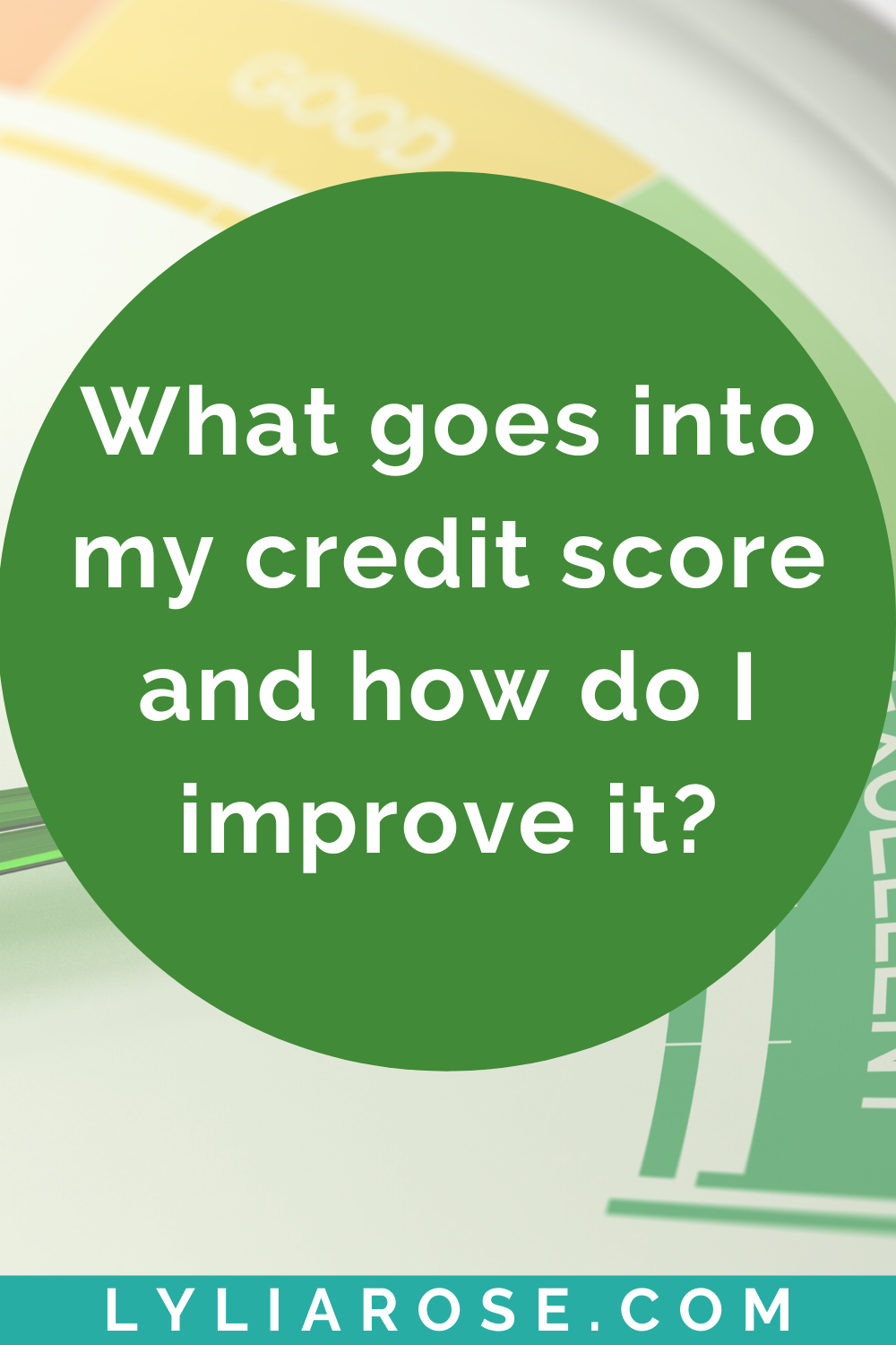 What goes into my credit score and how do I improve it?