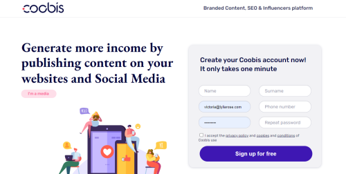make money blogging with coobis