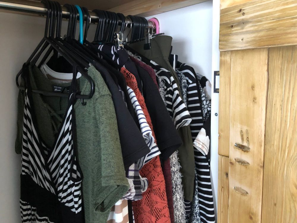 free stock photo wardrobe clothes hanging