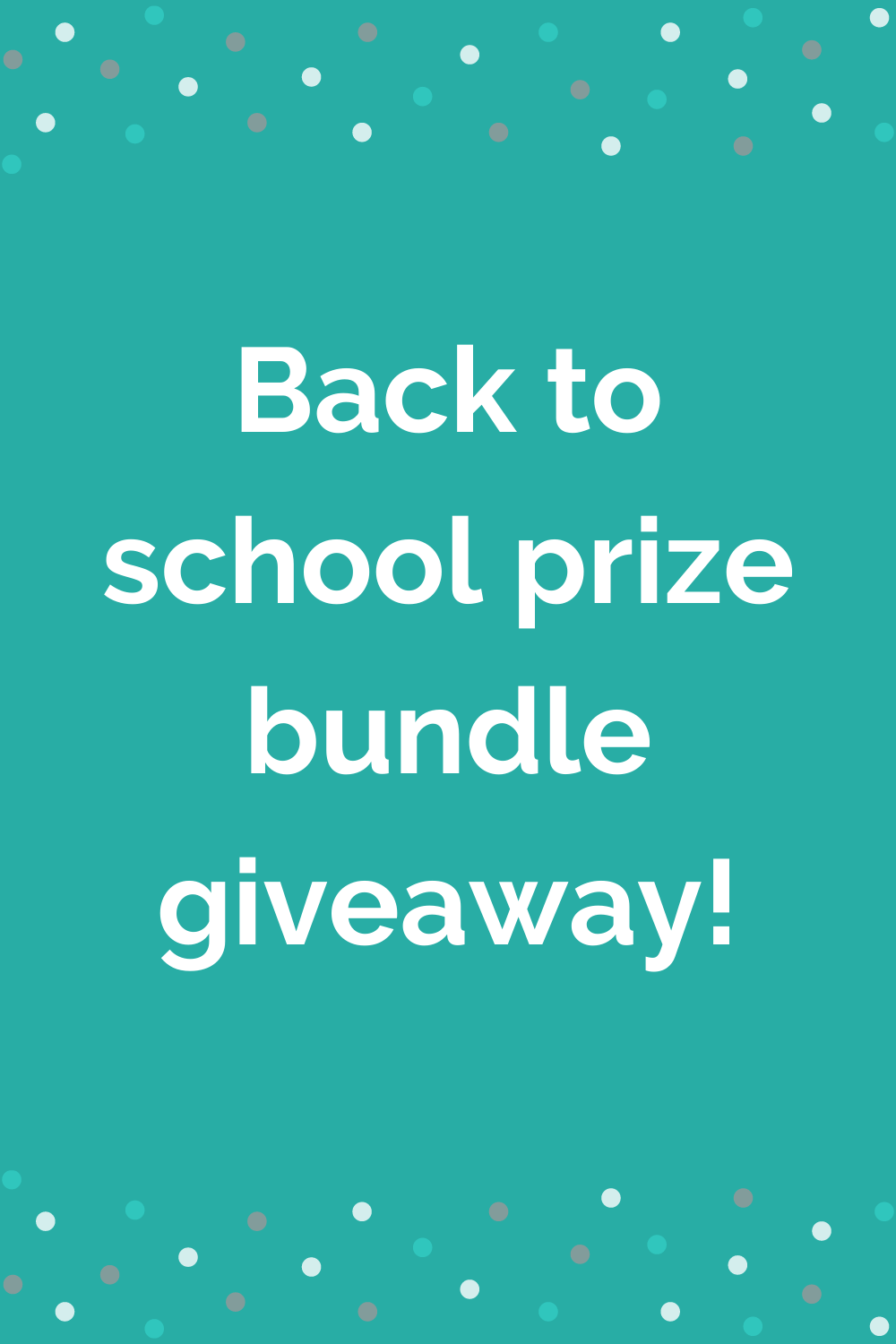 Back to school prize giveaway