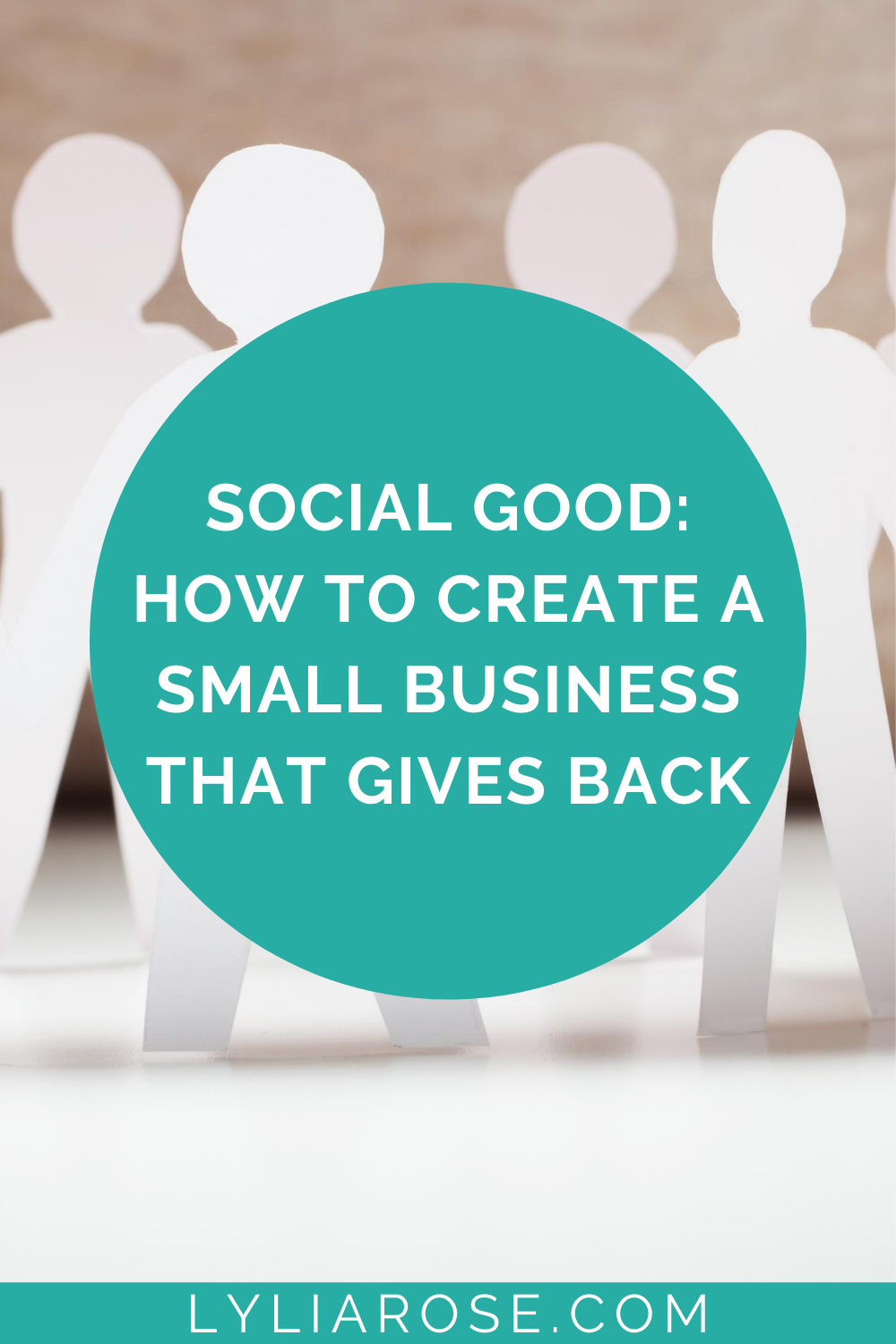 Social good how to create a small business that gives back
