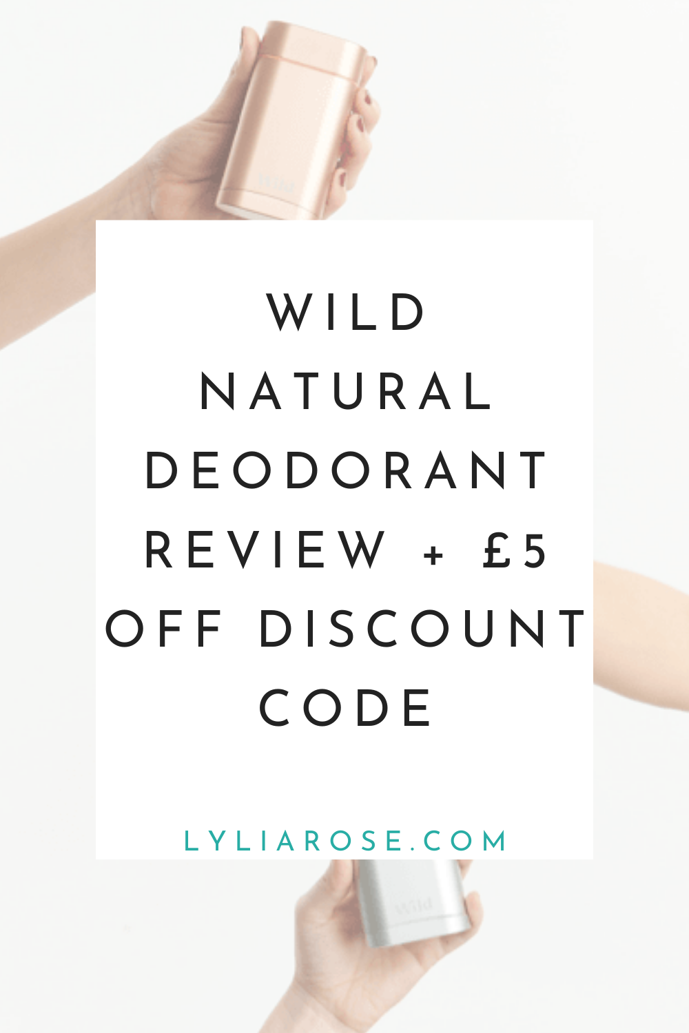 Wild natural deodorant review discount code