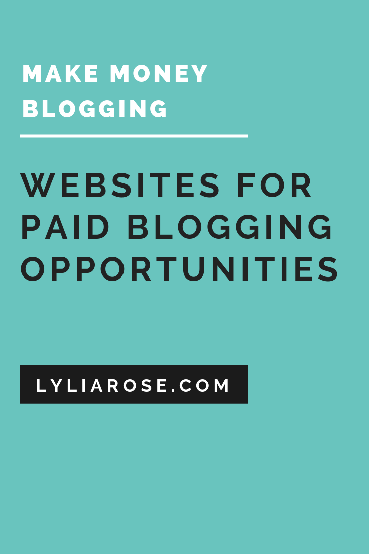 websites to find paid blogging opportunities