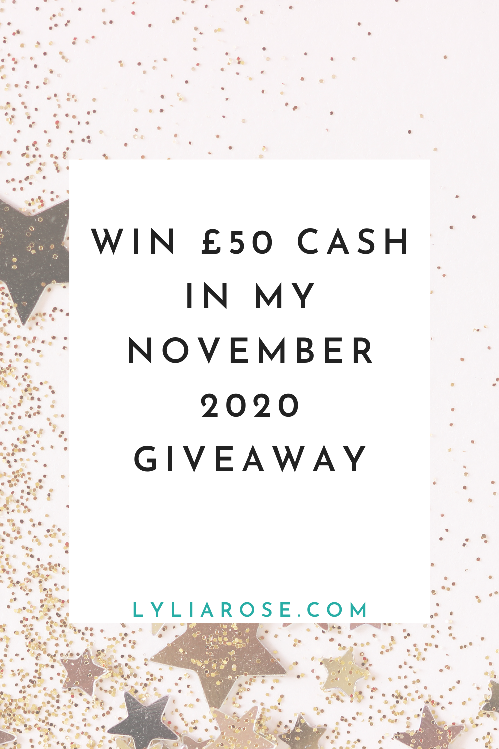 Win £50 cash in my November 2020 giveaway