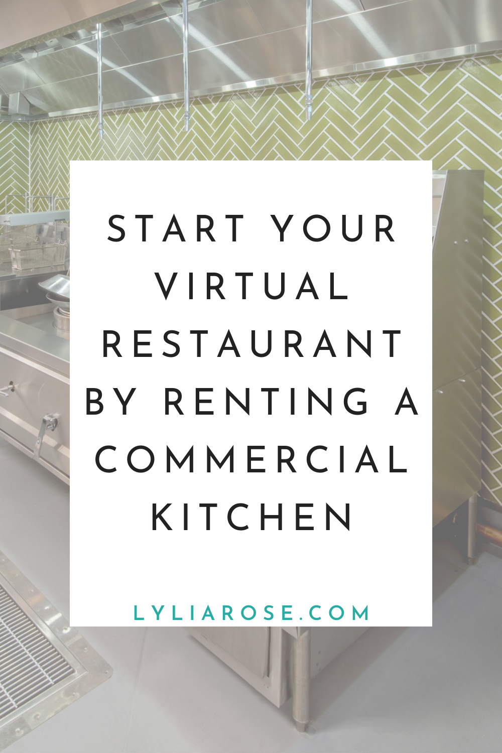 Start your virtual restaurant by renting a commercial kitchen