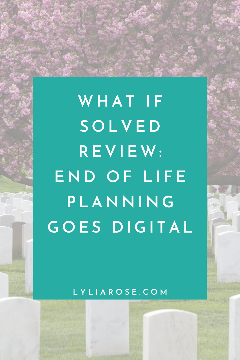 What If Solved review: end of life planning goes digital