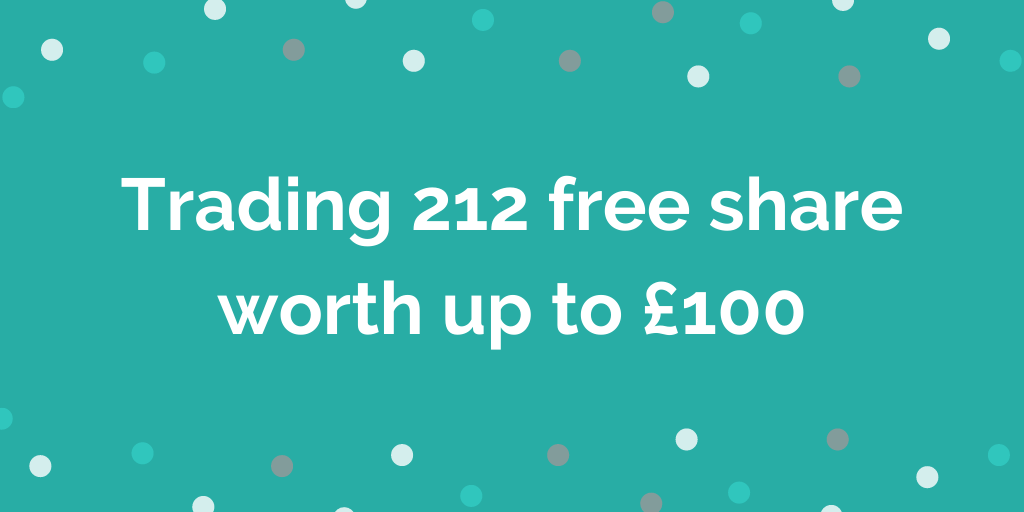 Trading 212 free share worth up to £100