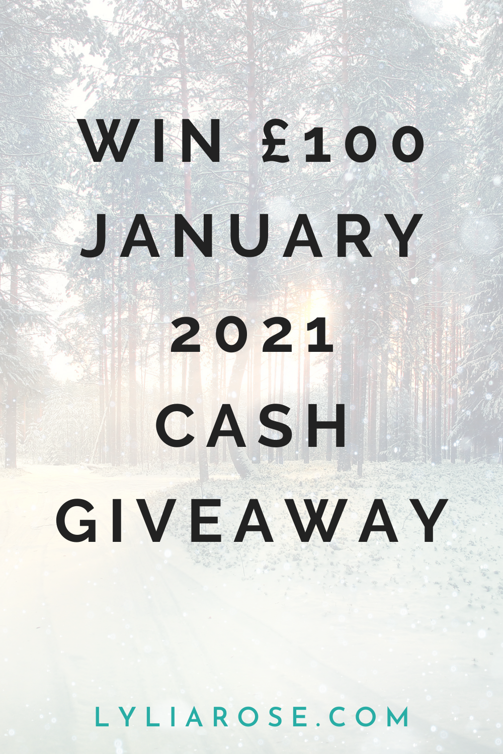 jANUARY 2021 CASH GIVEAWAY