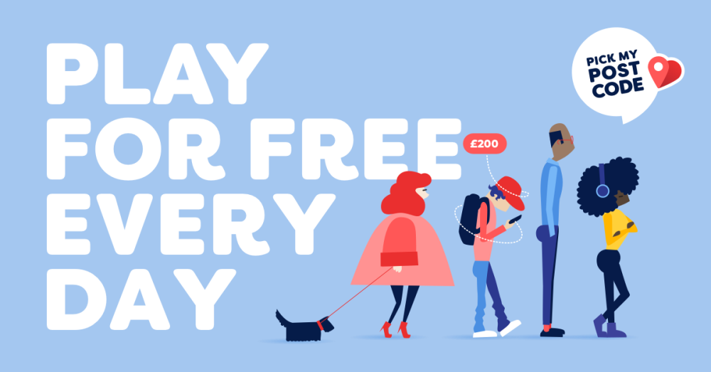 Win cash for free with Pick My Postcode free daily lottery