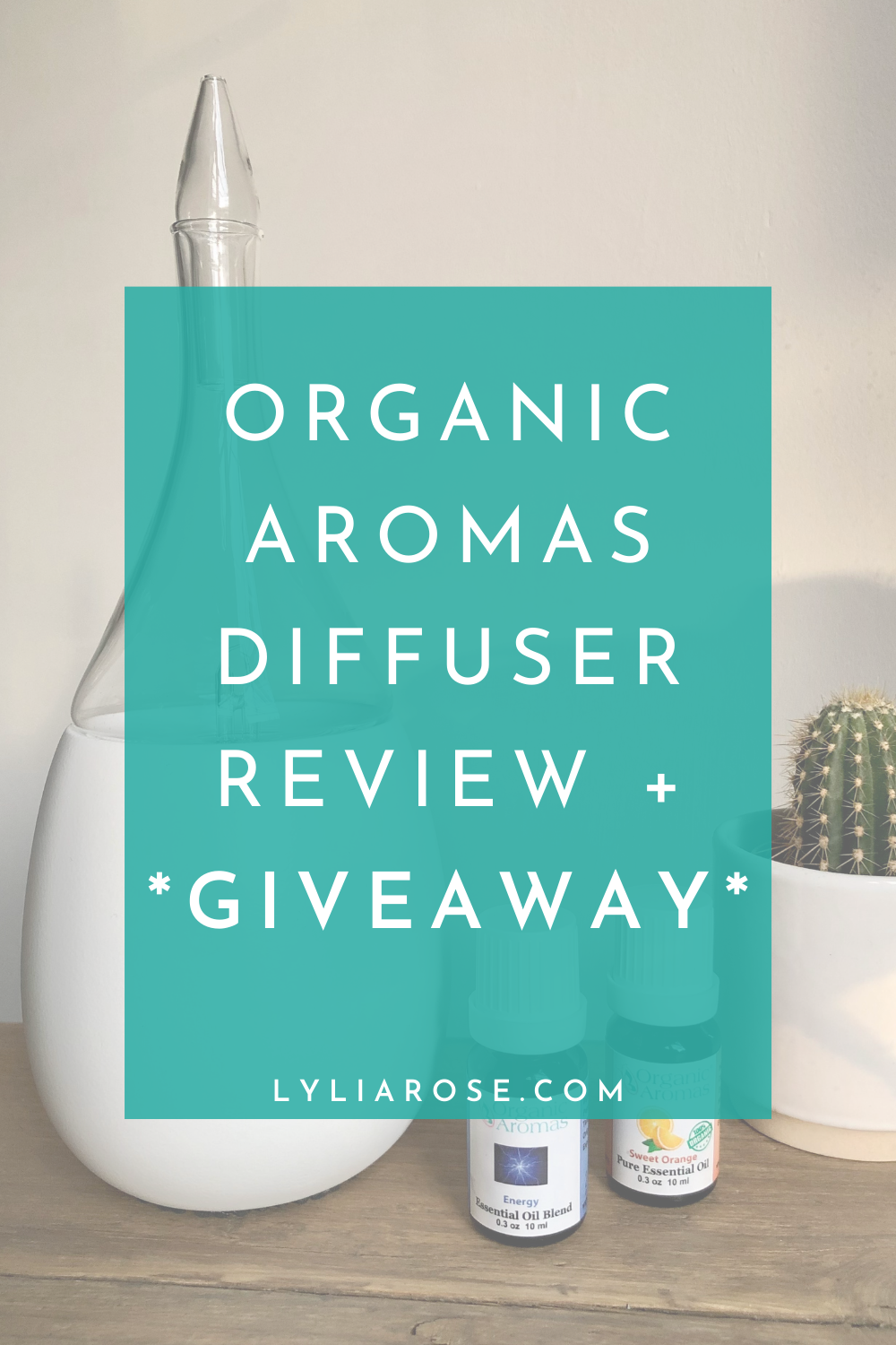 Organic Aromas diffuser review + giveaway