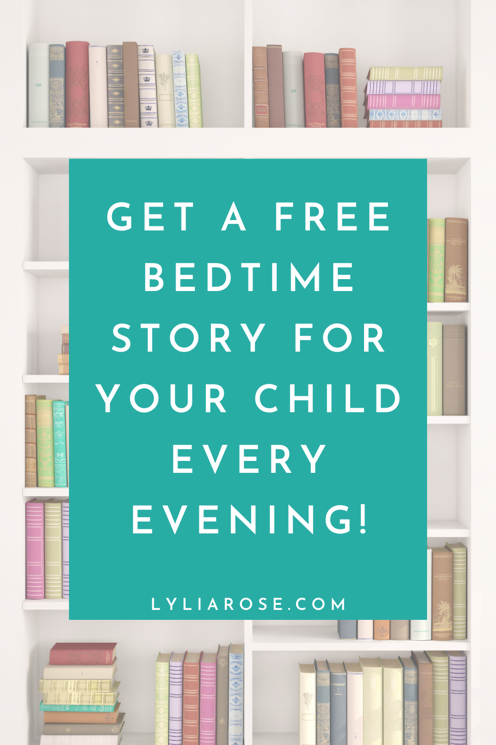 Get a FREE bedtime story for your child every evening