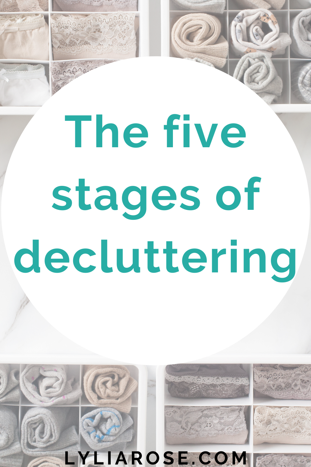 The five stages of decluttering