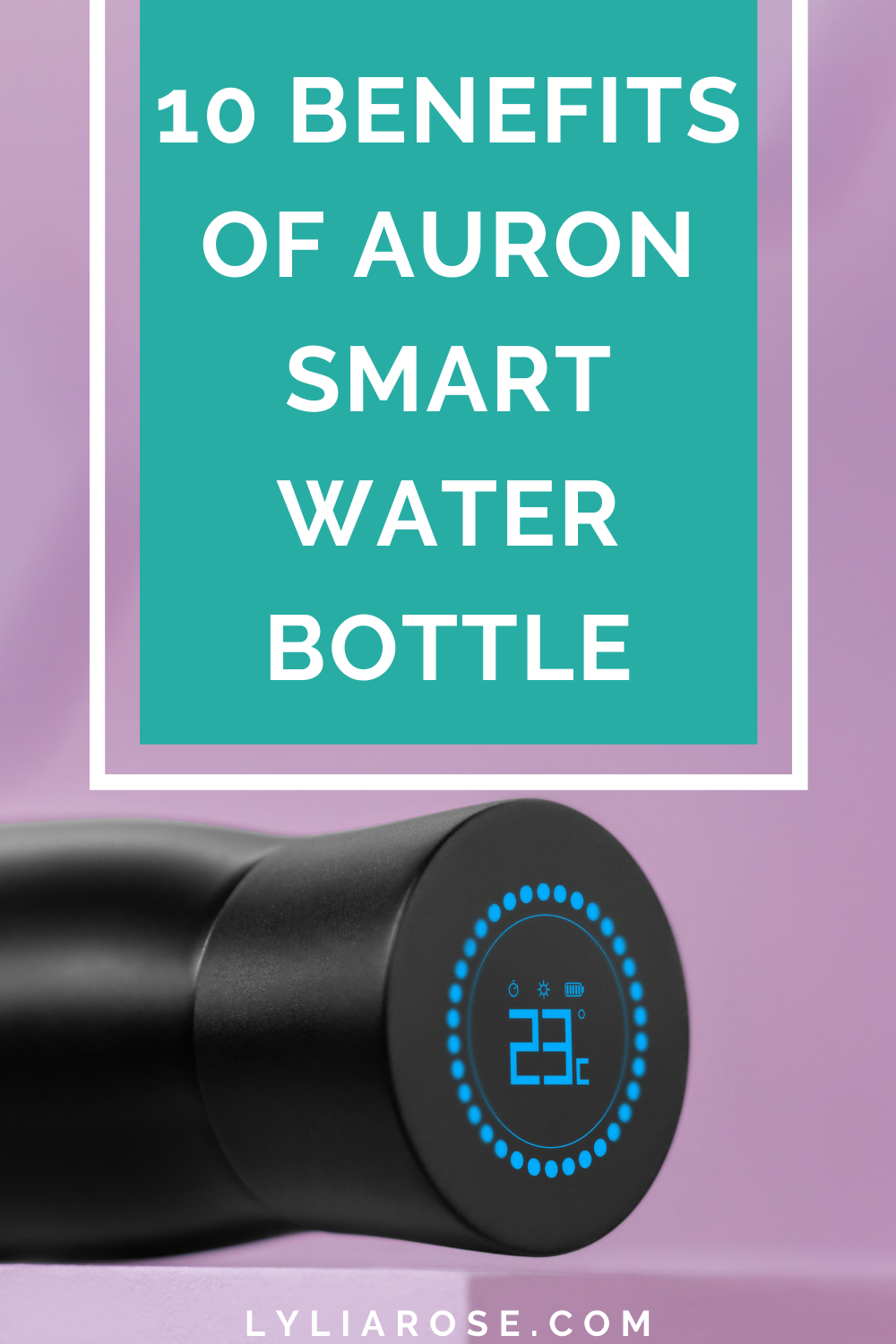 Auron self cleaning water bottle review