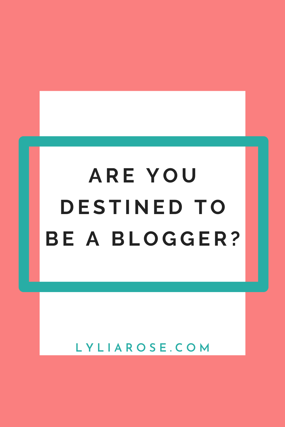 Are you destined to be a blogger