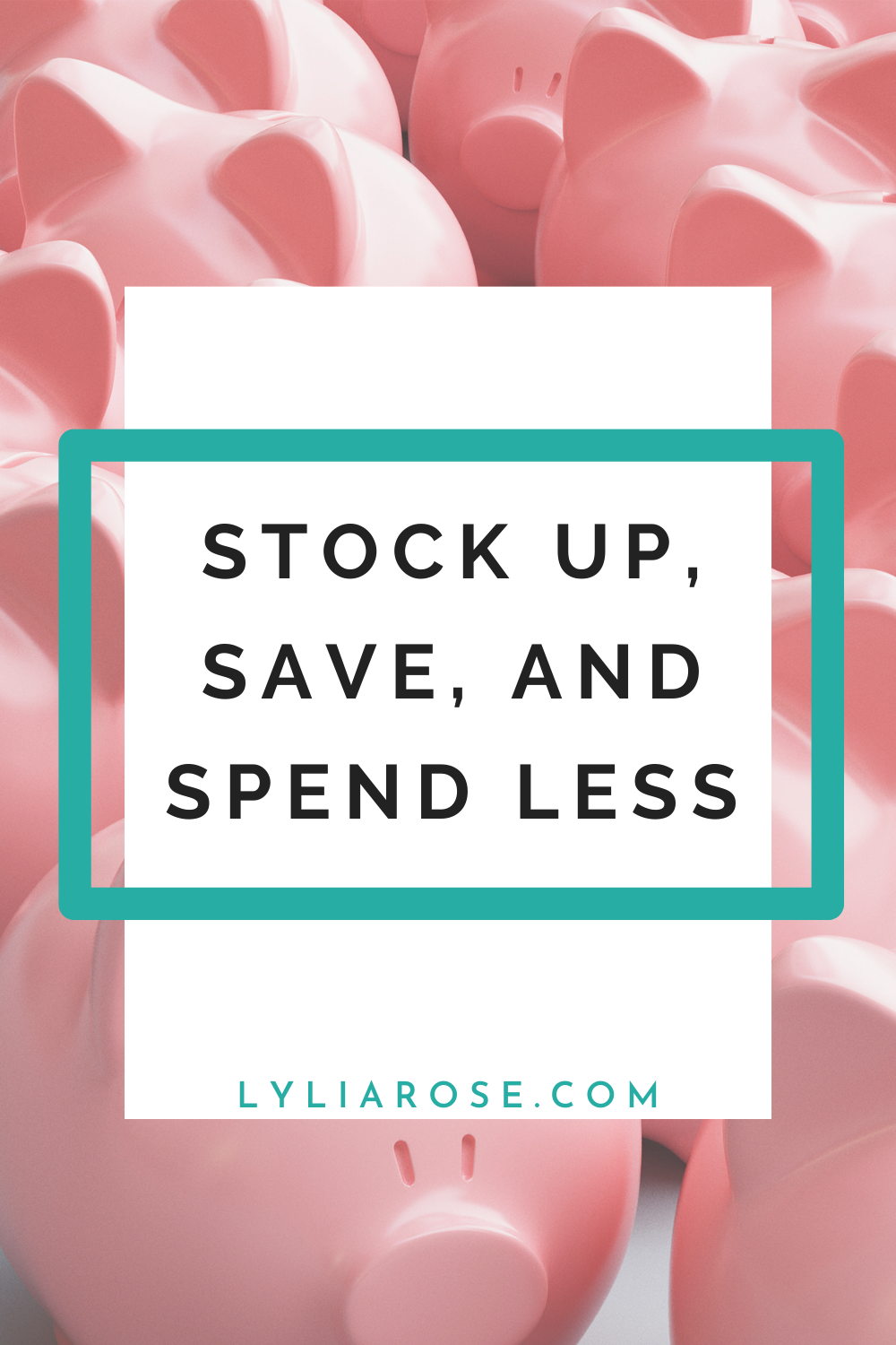 Stock up, save, and spend less