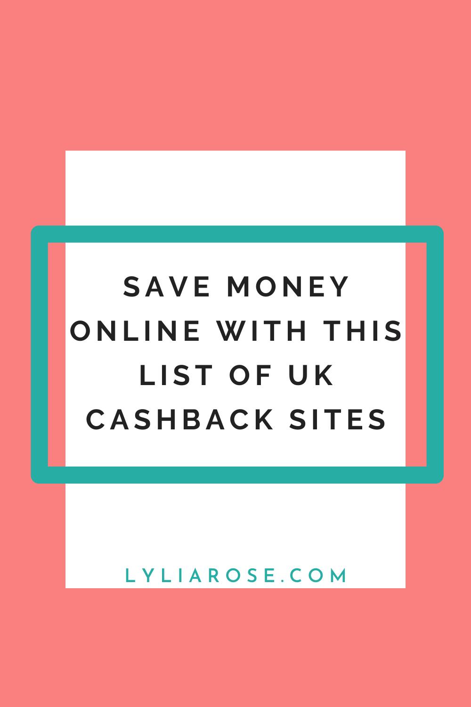 list of UK cashback sites