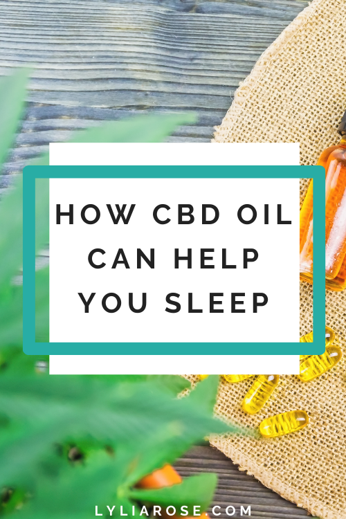 How CBD oil can help you sleep