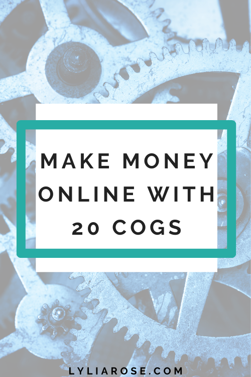 Make money online with get paid to website 20 Cogs