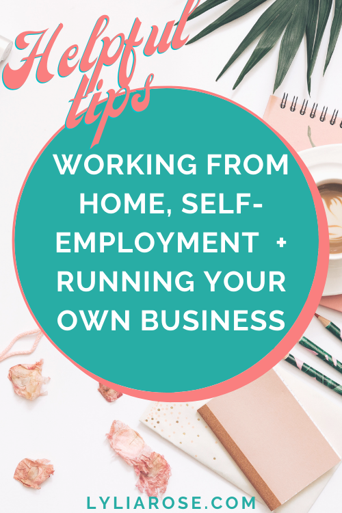working from home for yourself tips