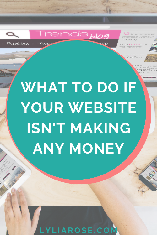 What to do if your website isnt making any money
