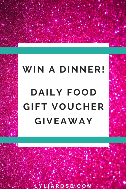 Win a dinner in this free daily gift voucher giveaway