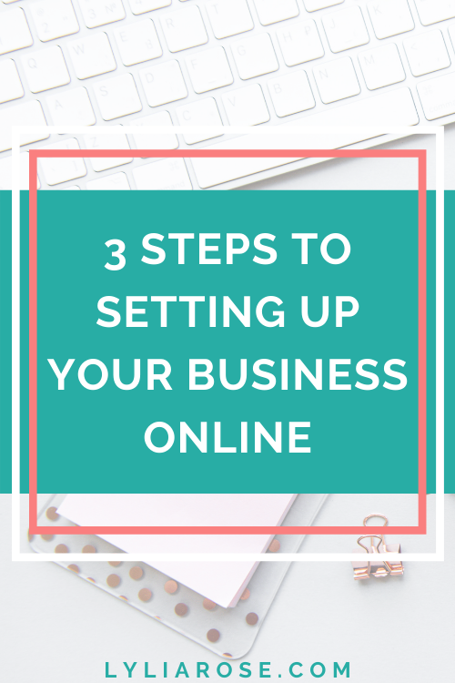 3 steps to setting up your business online