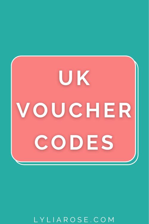 discount websites uk + free voucher codes
